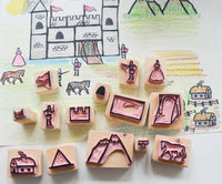 The Medieval Castle Stamp Set - Hand Carved