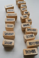 Days of the Week & Months of the Year- Laser Carved