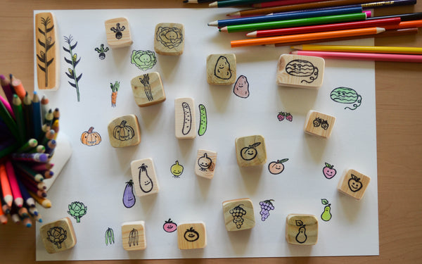 Garden Stamps- Fruit and Veggie Sets