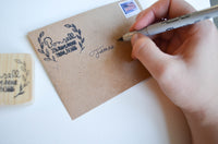 Olive Branch Address Stamp- Laser Carved