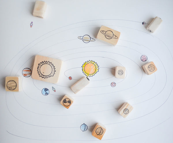 Solar System Stamp Set- Laser Carved