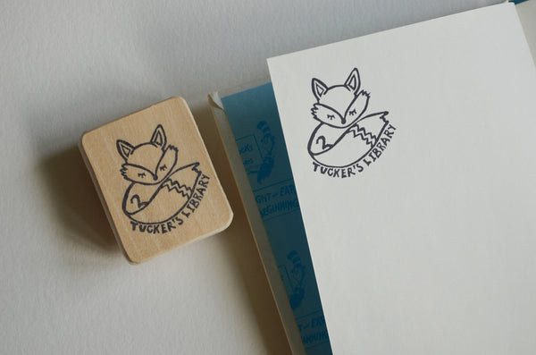 Fox Stamp- Hand Carved