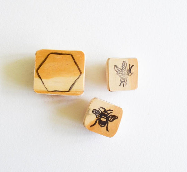 Bee Stamps and Hive Cell