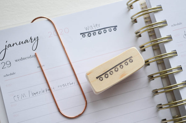 Habit Tracker Agenda Stamp