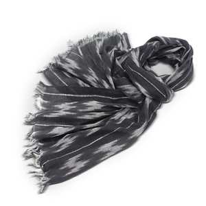 Black & Grey Ikat Scarf