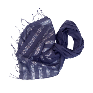 Metallic Stripes Scarf