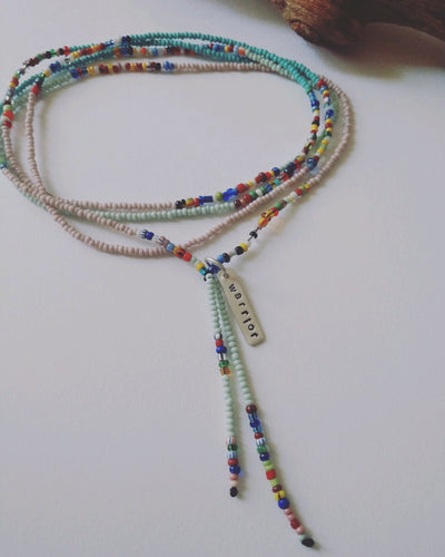 Spirit Weaver Beaded Necklace - Warrior