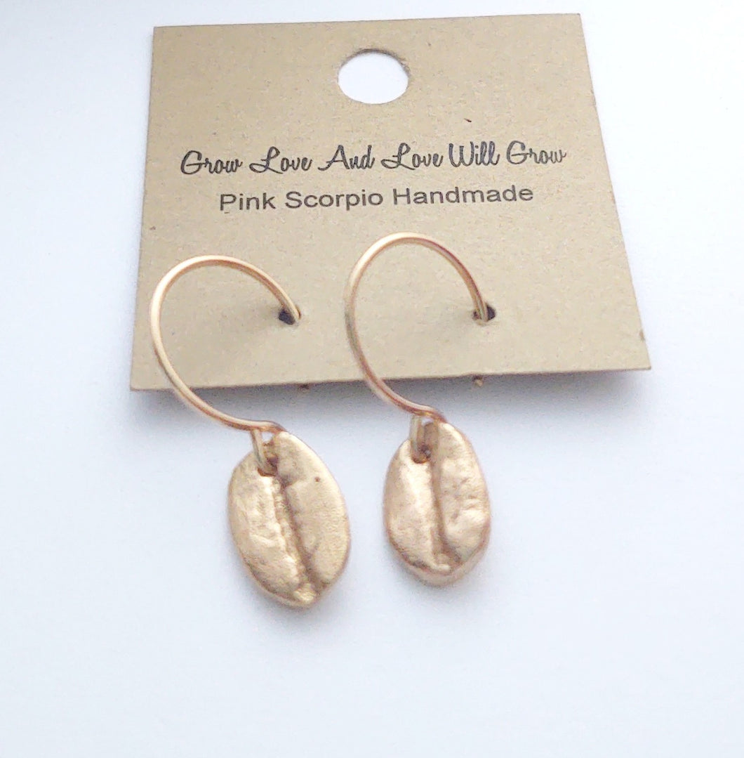 Grounded Bronze Charm Earrings