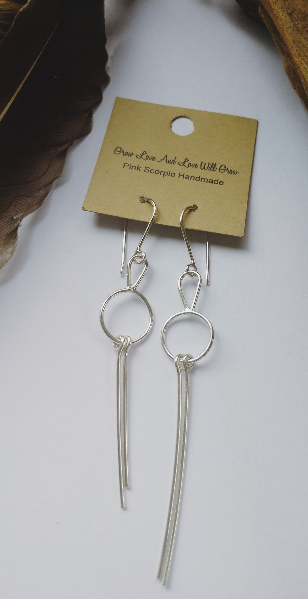 Silver Double Fringe Earrings
