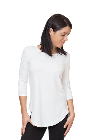 Bamboo Yoga T-Shirt 3/4 Sleeve