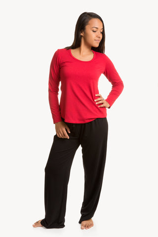 Womens Bamboo Long Sleeve Loose Fit T-Shirt