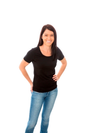 Womens Bamboo Short Sleeve Firm Fit T-Shirt