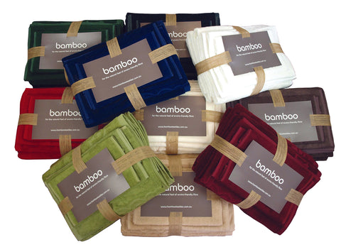 Coloured Bamboo Bath Mats