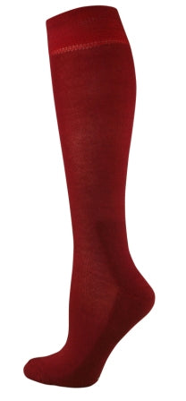 Womens Knee High Fashion Socks - Burnt Red