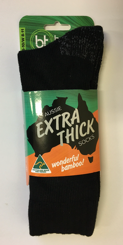 Australian Made Bamboo Xtr-Thk Work Socks