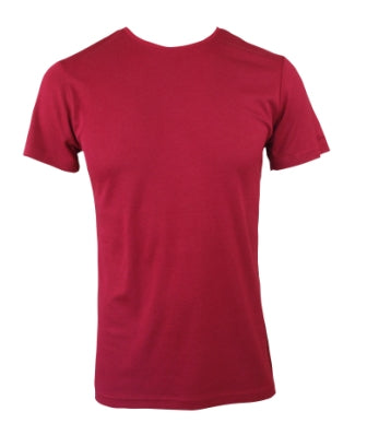 Mens Bamboo T-Shirt Without Pocket - Burnt Red