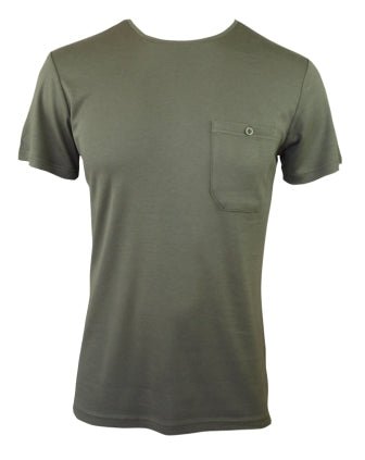 Mens Bamboo T-Shirt With Pocket - Olive