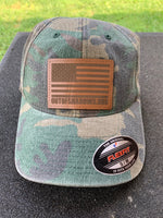 Camo Hat w/ Leather Patch - OUT OF SHADOWS
