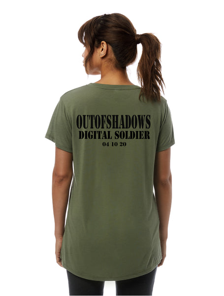 Digital Soldier Women's VNeck t-shirt -2894 - OUT OF SHADOWS