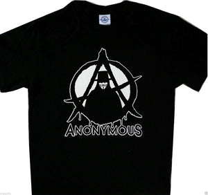 Anonymous Anarchy New Tee Cool T'Shirt Black New 2019 Fashion Men'S High Quality Tops Hipster Tees Custom T Shirts