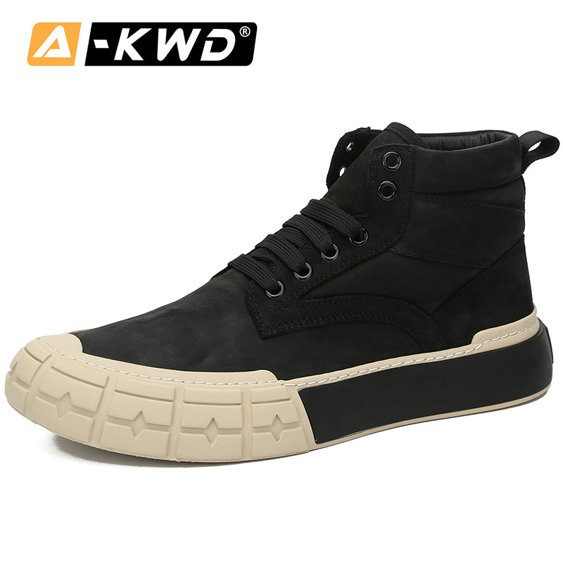 New Fashion Autumn Breath Men's Shoes High Top Shose Turnschuhe Herren Genuine Leather Sneakers Man Trainers Casual Men Sneakers