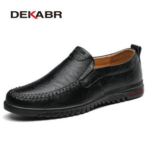 Men Shoes Genuine leather Comfortable Men Casual Shoes Footwear Chaussures Flats Men Slip On Lazy Shoes Zapatos Hombre