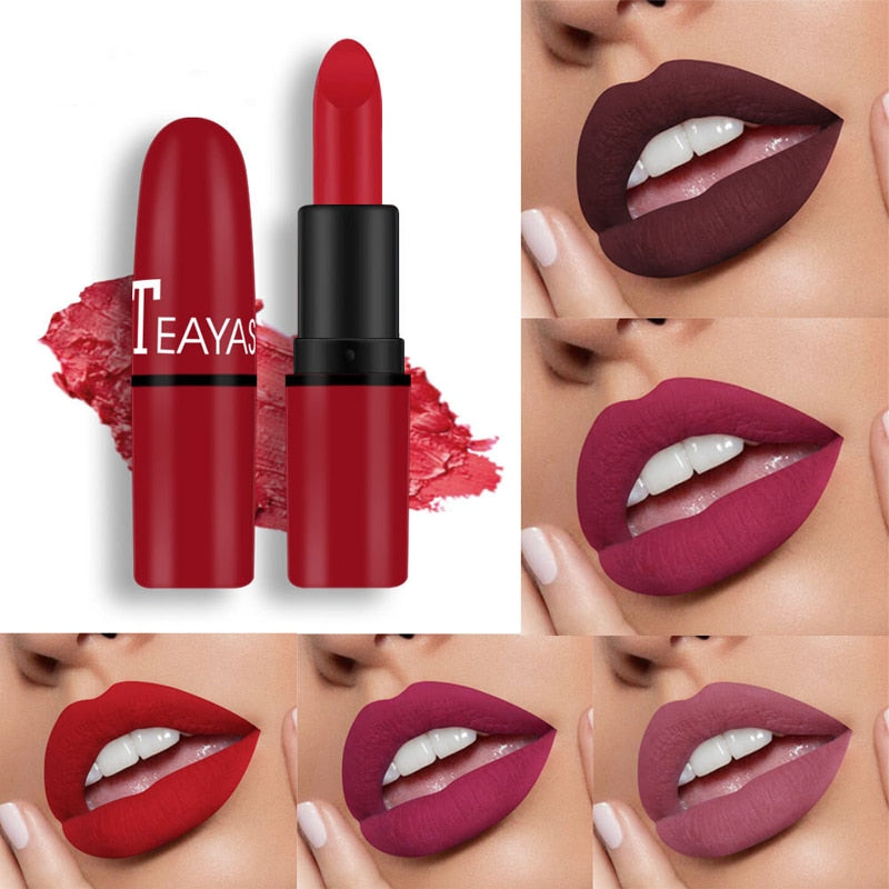 12-color matte sexy lipstick velvet color non-fading long-lasting natural nude color