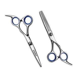 Brainbow 6 inch Cutting Thinning  Styling Tool Hair Scissors Stainless Steel Salon Hairdressing Shears Regular Flat Teeth Blades