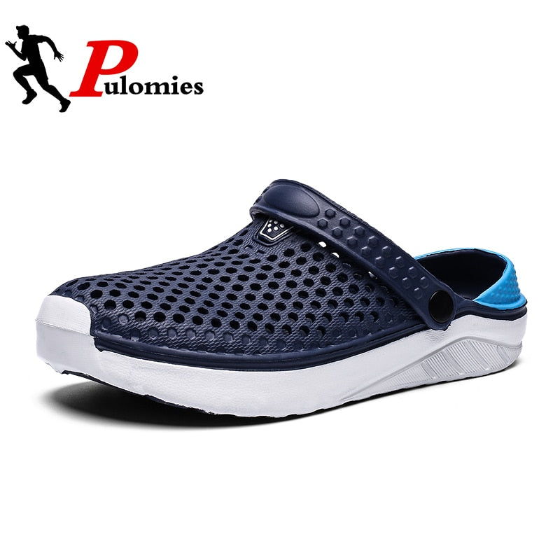 PULOMIES Summer Men's and Women's Clogs Quick Dry Casual Home Slippers Couple Garden Shoes Beach Sandals Mules Bathroom Slippers