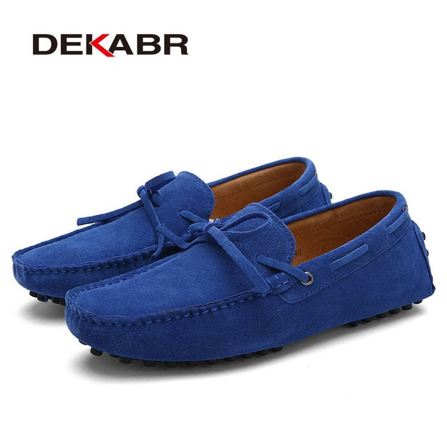 Big Size Cow Suede Leather Men Flats 2020 New Men Casual Shoes High Quality Men Loafers Moccasin Driving Shoes