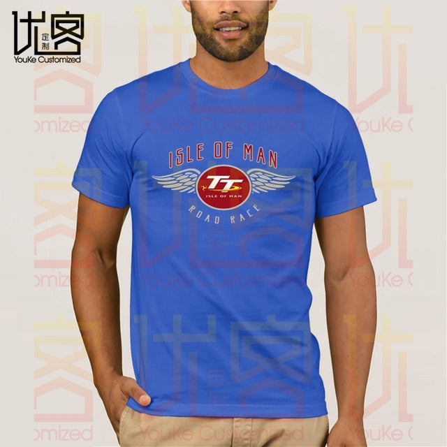 2020 Official Isle of Man TT Races Wing's T'Shirt men's women's 100% cotton short sleeves tops tee