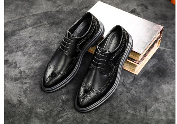 Classic black fashion Hidden heel shoes for men oxford leather shoes men formal zapatilla hombre office business male flats