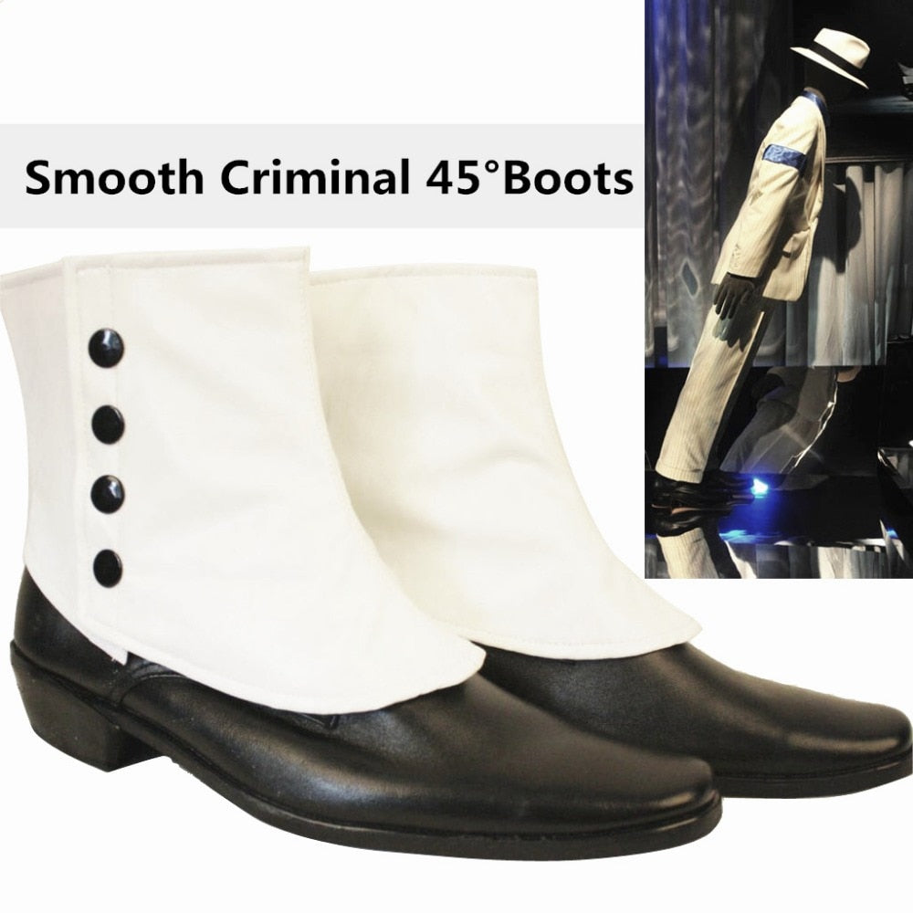 Rare MJ Michael Jackson SMOOTH CRIMINAL Easy 45 Degrees Magic Amazing Unimaginable Leaning Shoes Boots Show Moonwalk 1990-1995 S