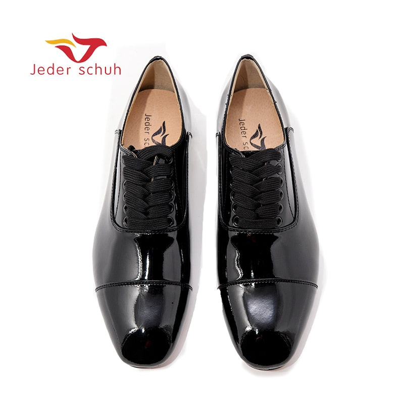 New black patent leather men loafers Fashion party and wedding men's dress shoes Oxfords