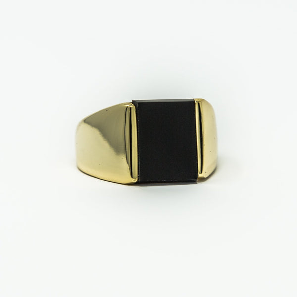 24ct Gold | Sovereign onyx