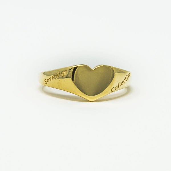 18ct Gold | Sovereign Heart