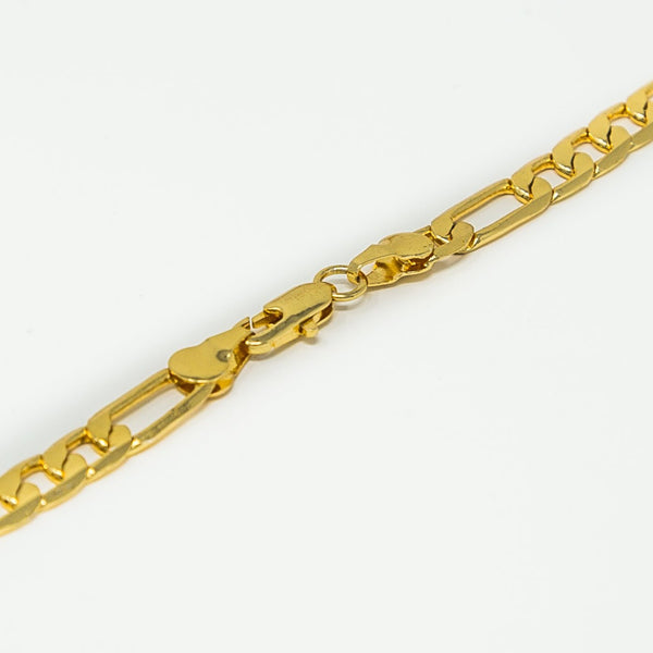 Sovereign Figaro chain | 18ct