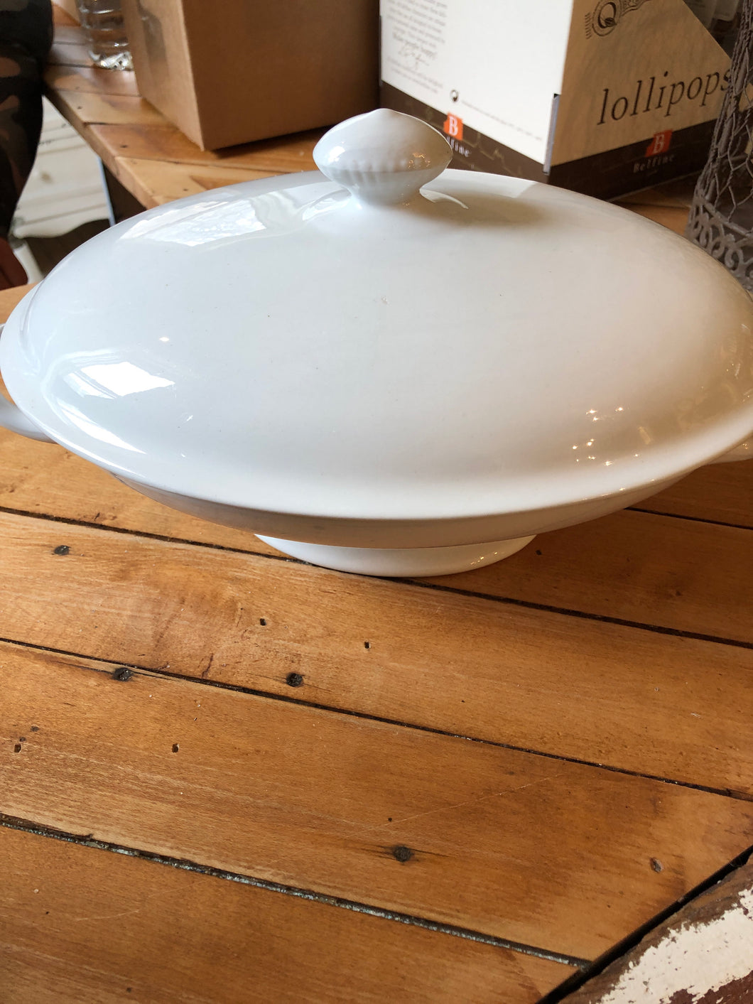 Vintage covered serving dish