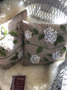 Flower pillow square