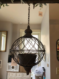 Small Hanging Rustic Sphere