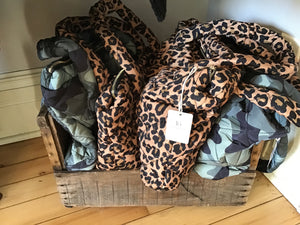 Cheetah and Camo Puffer Purses