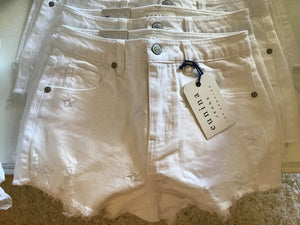 Lulu White Star Shorts