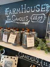 Load image into Gallery viewer, Farmhouse Tin Candles