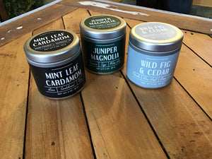 Small Tin 3 ounce Candles