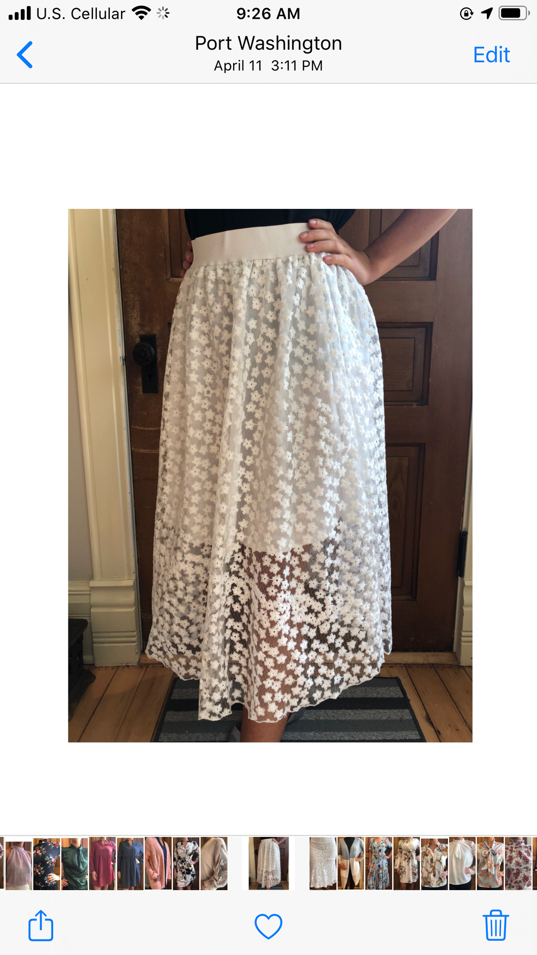 White lace layered skirt