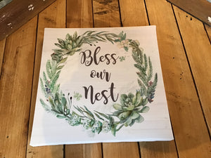 Bless our nest sign