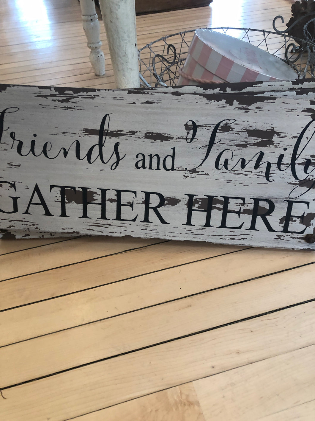 Friends and family sign