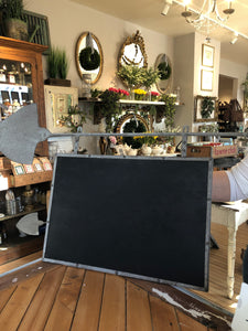 Chalkboard with shovel