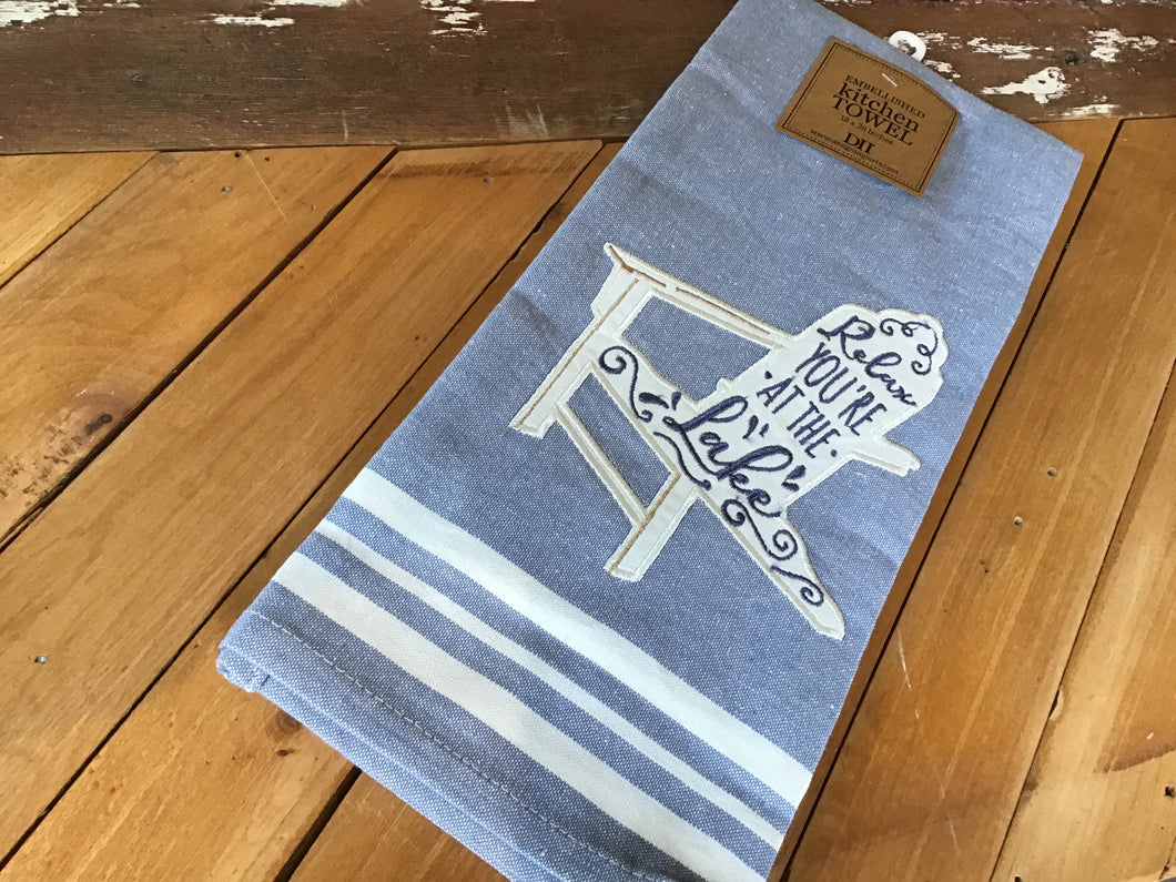 Relax You're at the Lake Tea Towel