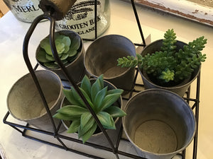 Small Potted Succulent Faux